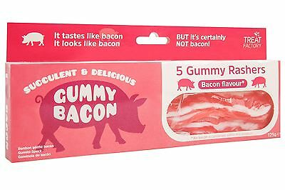 Treat Factory Gummy Bacon Rashers Fun Sweet Candy Novelty
