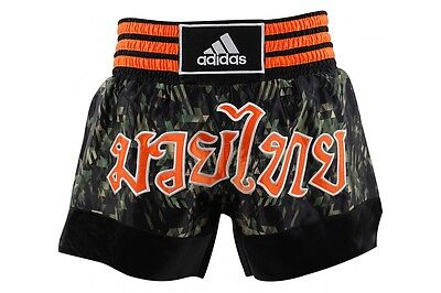 Adidas Muay Thai Fight Shorts MMA Grappling Kickboxing Trunks Camouflage