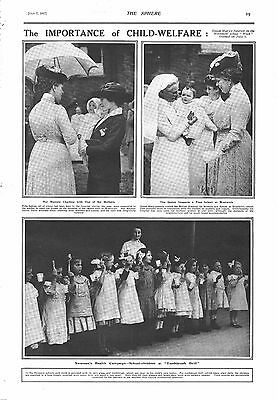 1917 Antique Print - Ww1- The Importance Of Child Welfare