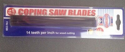 coping saw blades pack 10 14 TPI 165mm for cutting wood tempered carbon steel