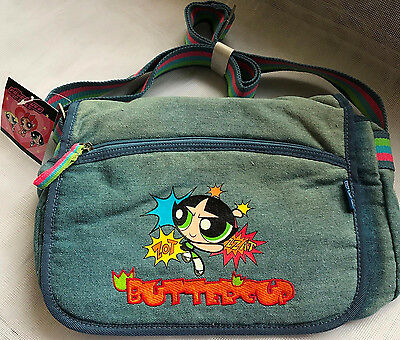 Handbag Buttercup The Powerpuff Girls Light Blue Jeans with Badges