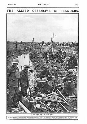 1917 Antique Print - Ww1- The Allied Offensive In Flanders