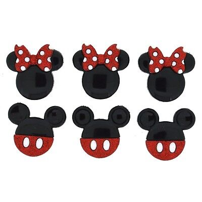 Mickey Mouse Buttons Minnie Mouse Ears - Disney Mickey Mouse Glitter Head Button