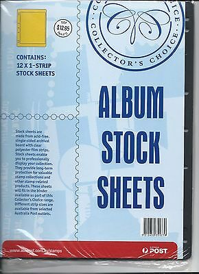 Collectors Choice Stamp Album Stock Sheets 12 x Single strip sheets