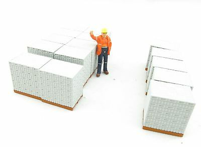 WSI 12-1003 Stones Bricks on Pallets (30) Grey for Truck Load  - Scale 1:50