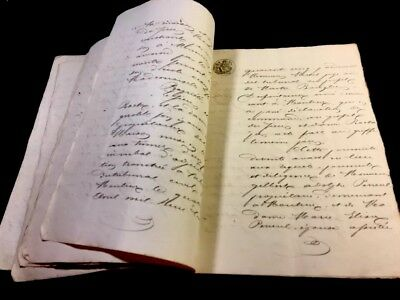 ANTIQUE  DOCUMENT 1849                              60 pages