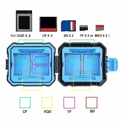 9 Slots Memory Card Case Holder Storage Box Waterproof for XQD CF TF SD Card OE