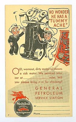 Early 1900's Flying A & Mobil Oil Advertising Postcard