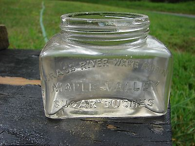 Maple Valley Syrup Jar Horse Shoe Forestry Co St Lawrence NY Adirondack Mts
