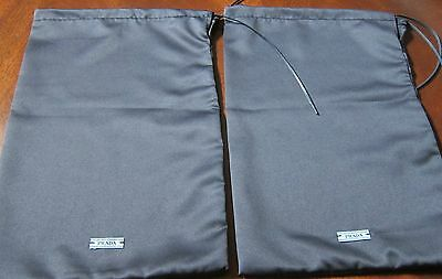 """AUTHENTIC NEW PRADA SHOE DUST BAGS SET OF TWO - 8 1/2""""W x 12 1/2""""H"""