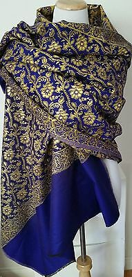 Kashmiri Shawl Purple with Gold