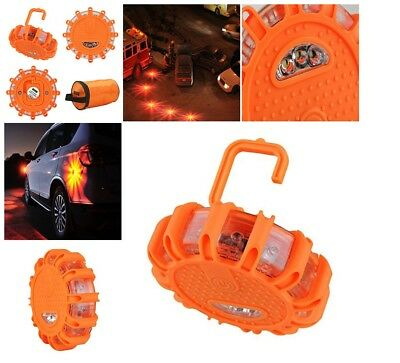 Heliar LED Road Flares Emergency Disc Roadside Safety Light Flashing Road Beacon