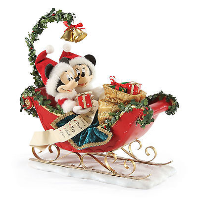 Department 56 Possible Dreams Disney Sleigh Bells Mickey & Minnie Mouse 4052399