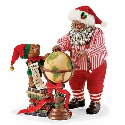 Department 56 Possible Dreams Across the Globe African American Santa  4057448