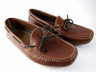L L BEAN LEATHER Slippers MENS Size 11 D LOAFERS MOCCASINS DRIVING Shoes