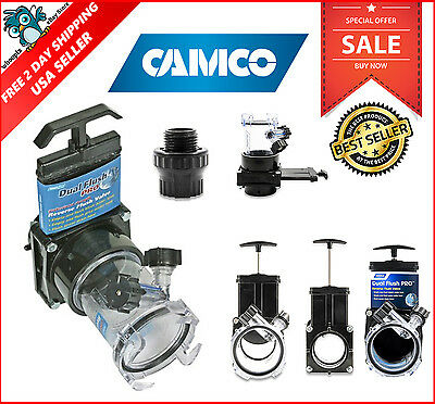 Camco RV Dual Flush Pro Holding Tank Rinser w/ Gate Valve Septic System Cleaner