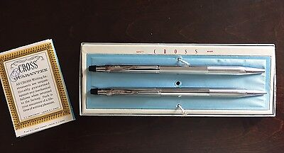 Cross Ballpoint Pen And Mechanical Pencil 3501 Set With Box And Guarantee Manual