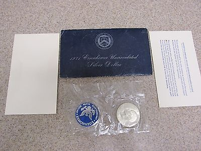 1971-S Eisenhower Dollar Uncirculated 40% Silver Coin Blue Pack
