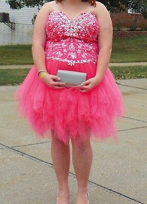 Pink Coral Homecoming Or Prom Dress Womens Size 26W