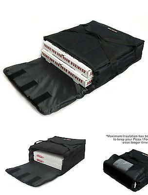 Black Polyester Insulated Pizza  Food Delivery Bag 16  18 Professional