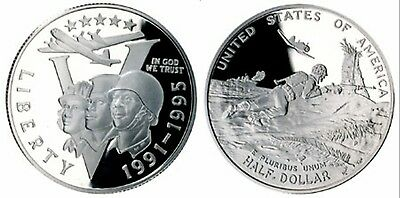 Coins WWII 2 50th Anniversary Young Collector's Edition Half Dollar Uncirculated