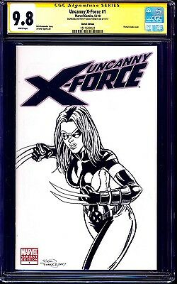 Uncanny X-Force #1 BLANK CGC SS 9.8 signed X-23 SKETCH by Sean Forney NM/MT