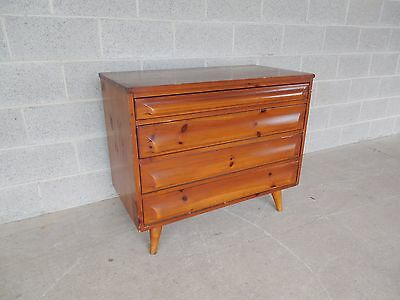 Franklin Shockey Co. Hand Burnished Pine Mid Century 4 Drawer Chest