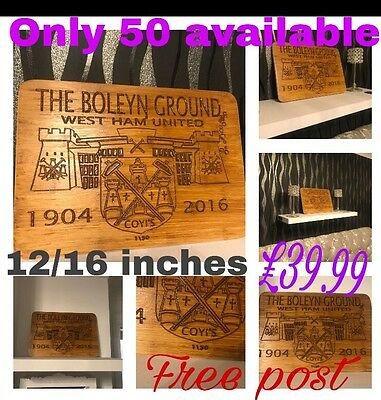 The Boleyn 1904-2016 Personalised With A Name (Woodycarver2017)