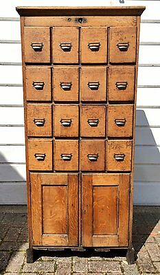 Vintage Haberdashery Bank Of Drawers Cupboard  Storage Apothecary