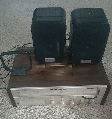 Vintage marantz SR 2000 receiver tuner/stereo amplifier + speakers + antenna