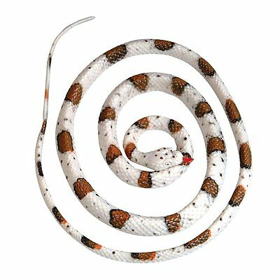 "Fake Realistic Rubber Banded Rock Rattlesnake Toy 48"" Long Garden Scary Snake"