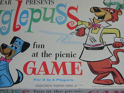 1961 Transogram Hanna Barbera Snagglepuss Fun At The Picnic Game Complete