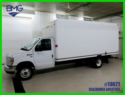 Box Truck 5.4  v8 16 ft  Unicell Dually Super Duty E350 E-350 White van cutaway
