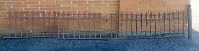 Antique Four Panels Cast Iron Widow Walk Fencing Victorian Garden Fence Gate