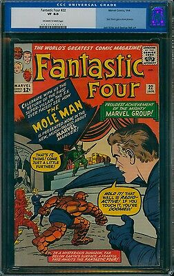 Fantastic Four 22 CGC 8.0 ow/w pages, Sue Storm gains more powers!  old label