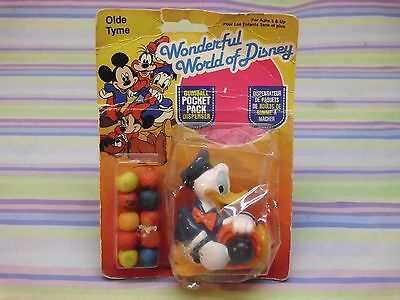 80s donald duck gumball pocket pack dispenser sealed in rough package