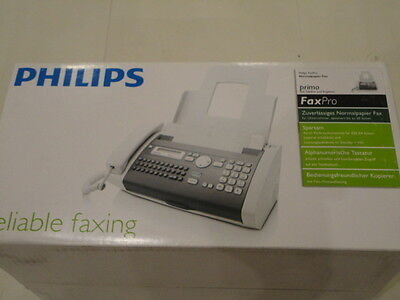 Philips Faxpro 725 Inkfilm Plain Paper Fax Machine Telephone *NEW*