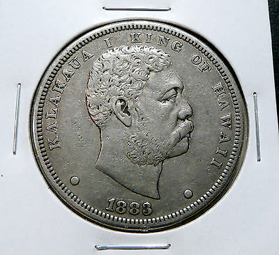 1883 Hawaii Silver Dollar   Higher Grade   -   Silver $1.00 With Nice Details