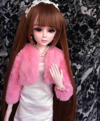 "24"" New 1/3 Handmade PVC BJD MSD Wedding Doll Joint Dolls Baby Gift New Rose"