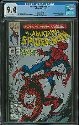 Amazing Spider-Man #361 CGC 9.4 2nd print 1st appearance of Carnage