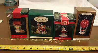 Lot Of 4 Hallmark Keepsake Ornaments