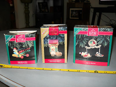 Lot Of 3 Hallmark Keepsake Ornaments