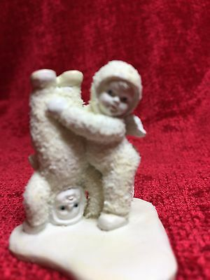 """Department 56 Snowbaby Pewter Miniature """"WHICH WAY'S UP?"""""""