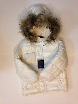 New Girls Baby Gap Size 5 Years Winter Coat Water Repellent Off White