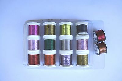 Fly Tying. Coloure Wire, Tungsten Wire,