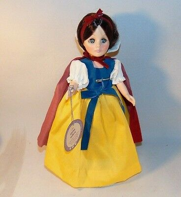 Effanbee Snow White Doll with Stand Tag Attached 11 Inch Made in USA Complete
