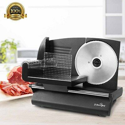 150W Meat Slicer with Stainless Steel Blade Electric Cutter Kitchen Commercial
