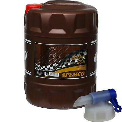 20 Liter Pemco Transmission Oil ipoid 595 75W-90 Gear Oil Oil incl. Drain Cock