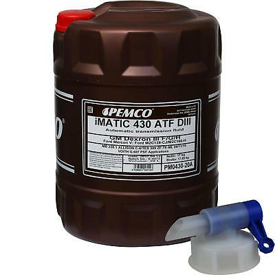 20 Litre Pemco Automatic Transmission Fluid iMatic 430 ATF DIII Gear Oil Oil +