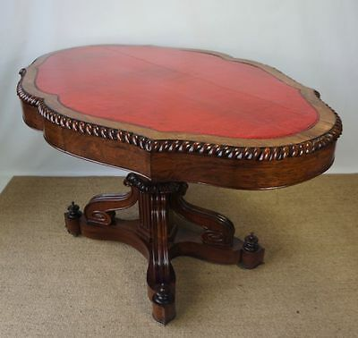 Stunning Large Antique Late Victorian Leather Library Games Writing Table Desk